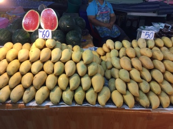 Mango stand at local market