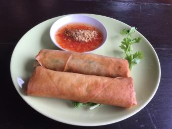 Thai spring rolls @ Thai Farm Cooking School