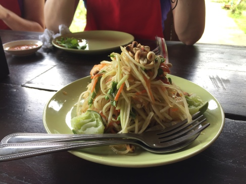 Papaya salad @ Thai Farm Cooking School