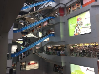 Every shopping mall in Asia looks like this, elevators for days - MBK