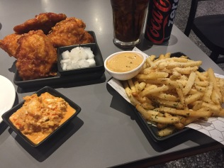 Fried chicken and parmesan fries @ Bonchon