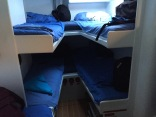 I slept in the bottom right bunk for two nights, actually wasn't as bad as I thought it'd be