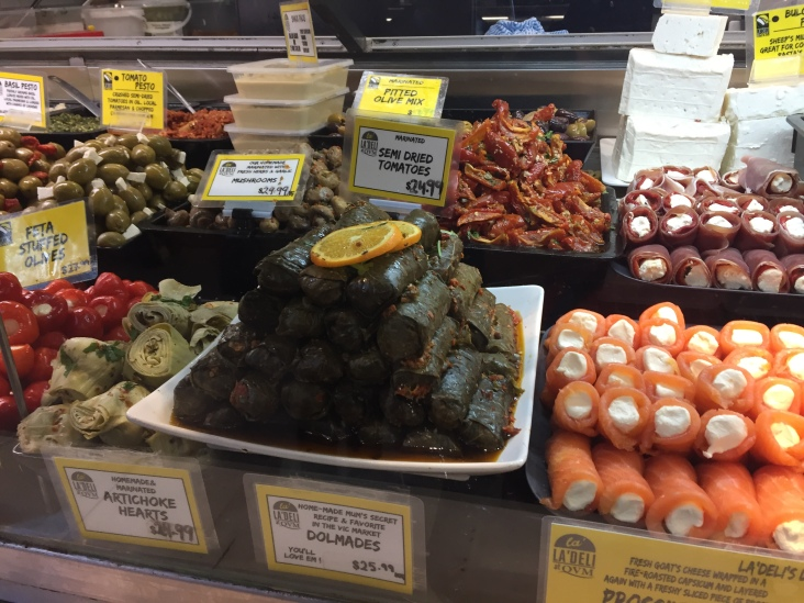 So many options inside the delicatessen department of Queen Victoria Market