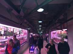 Inside the fresh meat and seafood department of Queen Victoria Market